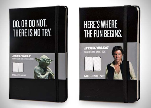 Awesome Star Wars Moleskines are awesome