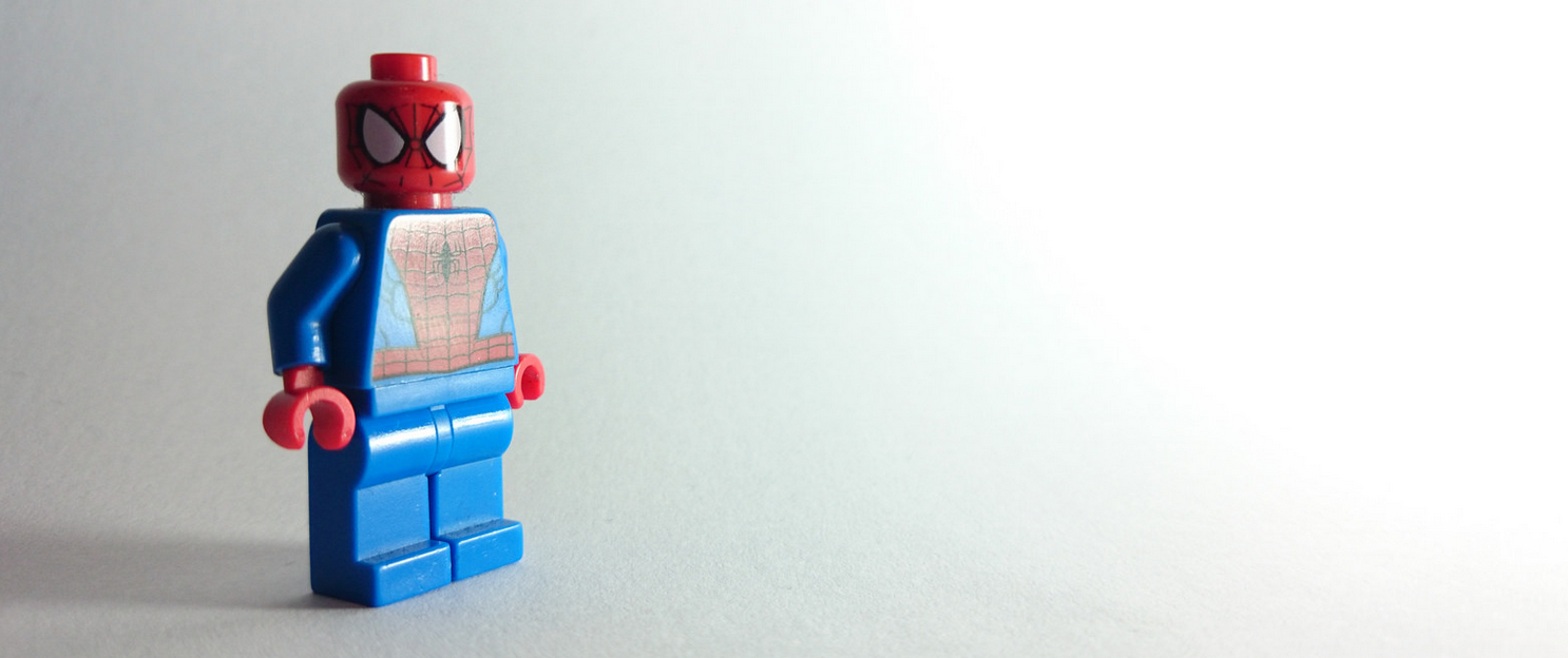 Dicking about with Spider-Man Lego
